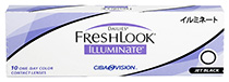 Dailies® FreshLook® Illuminate™ 10 vnt. Jet Black 0,00