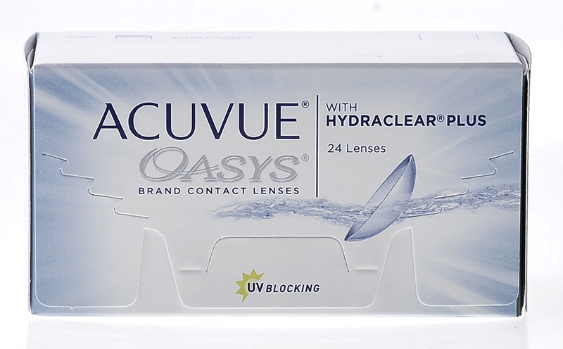 Acuvue® Oasys with Hydraclear® Plus 24 vnt. + CashBack 3€ DOVANU! (perkant 2 pak.)