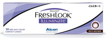 Dailies® FreshLook® Illuminate™ 10 vnt. Rich Brown